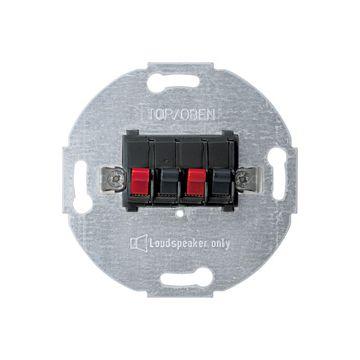 Schneider Electric Merten Systeem M luidsprekercontactdoos 2-voudig, antraciet