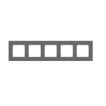 Siemens DELTA Miro afdekraam 5-voudig, antraciet 5TG11152