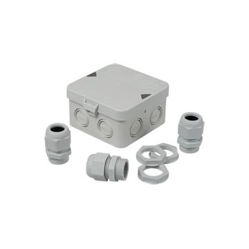 Attema kabeldoos IP65 met 3 wartels M25 11-17mm met barcodelabel
