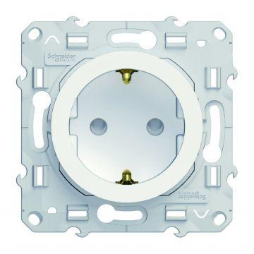 Schneider Electric Odace wandcontactdoos met randaarde 16A, wit