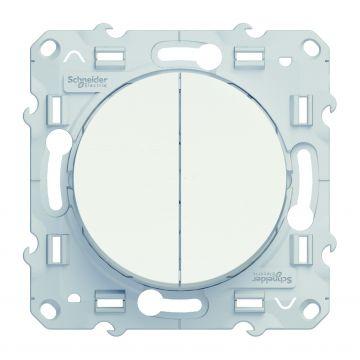 Schneider Electric Odace wissel/wisselschakelaar 10A, wit