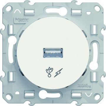 Schneider Electric Odace USB lader, wit