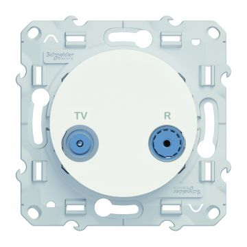 Schneider Electric Odace TV/rijgdoos, wit