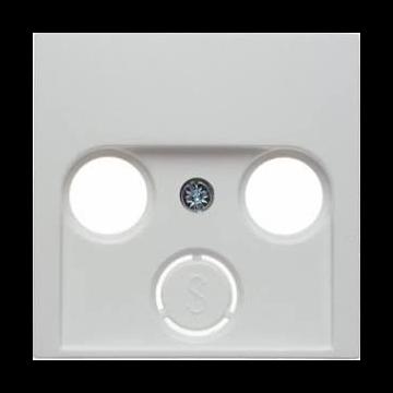 Hager berker B.1/B.3/B.7 centraalplaat voor coax, aluminium