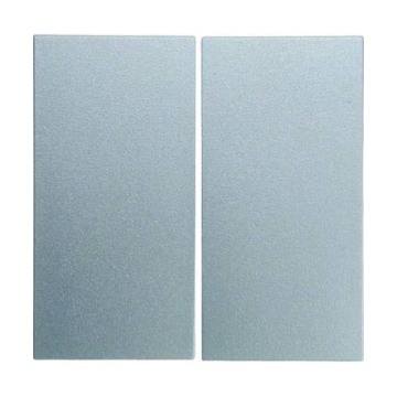 Hager berker B.1/B.3/B.7 wiptoets dubbel, aluminium
