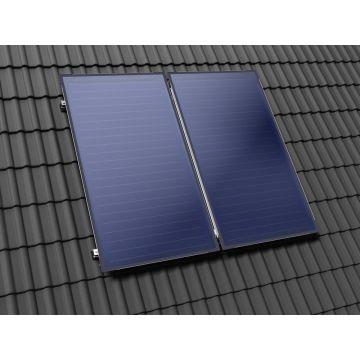 Nefit SolarLine zonnecollectoren opdak schuin verticaal