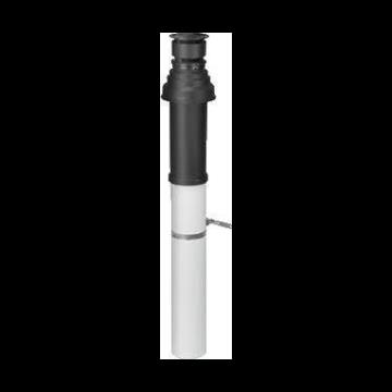 Vaillant verticale dakdoorvoer 80/125mm tbv HR Exclusief, Ecotec Plus, Ecotec Pro zwart