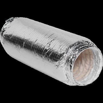 Itho Daalderop geluiddempende slang, 50 cm lang, 12,8 cm diameter, zilver