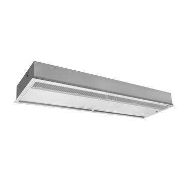 NHS Superflat cassette luchtgordijn indirect gestookt max. deurhoogte 2,3 meter plafond model 7,1 kW 1280 m3/h 1-1000W 230V