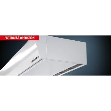 Teddington SMARTtec Premium luchtgordijn indirect gestookt max. deurhoogte 2,8 meter voorijh. model 230V 20,3 kW 3500 m3/h 3-1500W