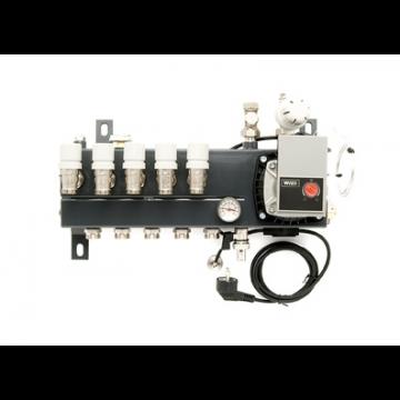 VTE Slim verdeler vloerverwarming bovenaansluiting met energiezuinige A-label pomp 3-groeps