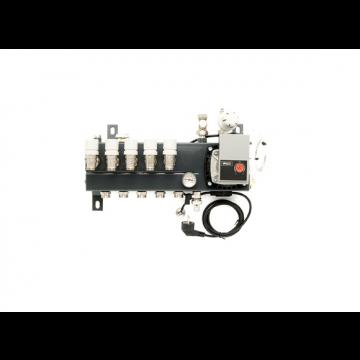 VTE Slim verdeler vloerverwarming bovenaansluiting met energiezuinige A-label pomp 2-groeps
