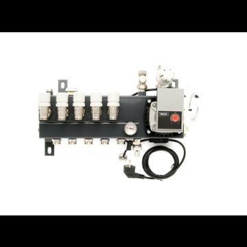 VTE Slim verdeler vloerverwarming bovenaansluiting met energiezuinige A-label pomp 4-groeps