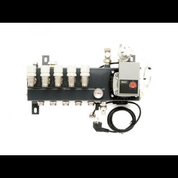 VTE Slim verdeler vloerverwarming bovenaansluiting met energiezuinige A-label pomp 7-groeps