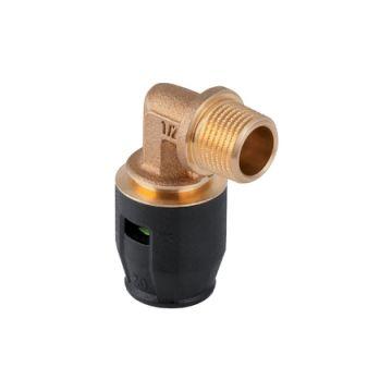 "Geberit PushFit overgangsbocht 90° buitendraad brons 25mm x3/4"" 652242001"