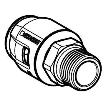 """Geberit PushFit overgangsfitting buitendraad 16mm x 1/2"""""""
