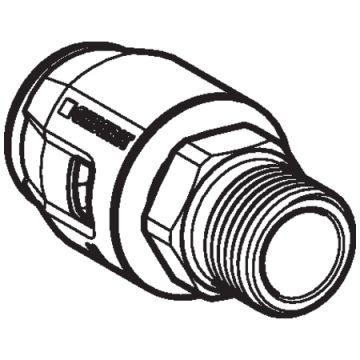 "Geberit PushFit overgangsfitting buitendraad brons 16mm x1/2"""