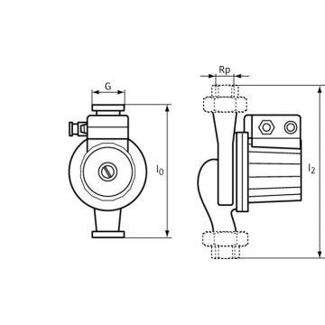 Wilo mechanisch toebehoren voor pompen, gietijzer, toebehoren set draadkoppeling