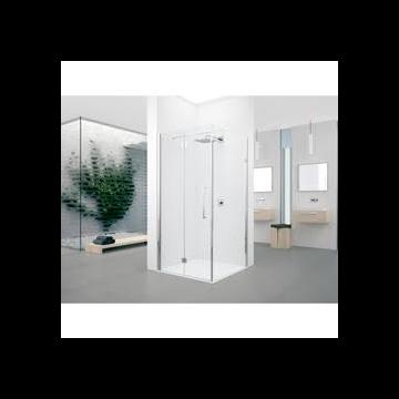 Novellini Young 2.0 FG zijwand 61/63x200cm voor G draaideur en 2GS vouwdeur mat chroom/helder Y2FG611B