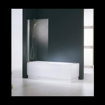 Novellini Aurora 1 badklapwand 1-delig 85x150cm mat chroom/helder