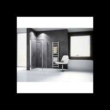 Novellini Giada draaideur G 90/93x195cm links mat chroom/helder