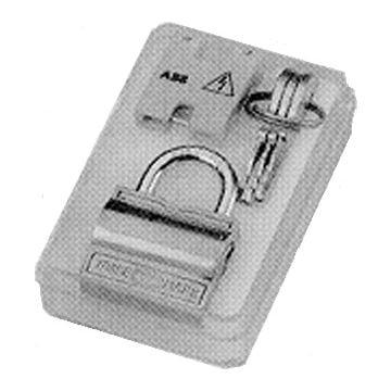 ABB hangslotvergrendeling voor schakelaar System pro M compact met 2 sleutels, koper