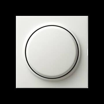 Gira S-Color kunststof inzetplaat met draaiknop voor dimmer, wit (RAL 9010)