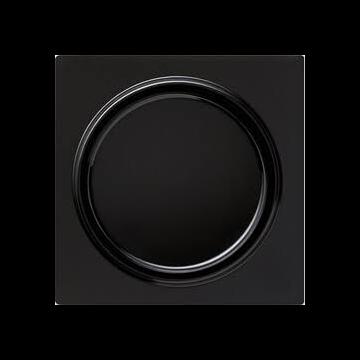 Gira S-Color kunststof inzetplaat met draaiknop voor dimmer, zwart