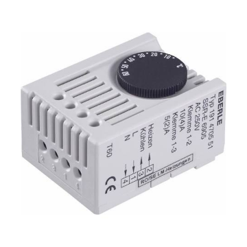 Eberle thermost, DRA (DIN-rail ad), temperatuurbereik 5-60°C, (IP) 30