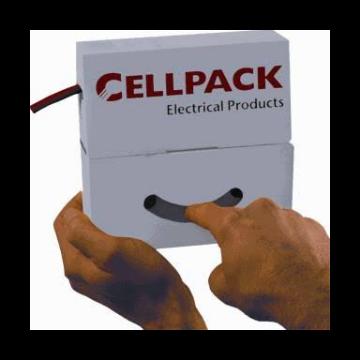 Cellpack SB krimpslang, polyolefine (PEX), geel/groen, lengte 15000mm