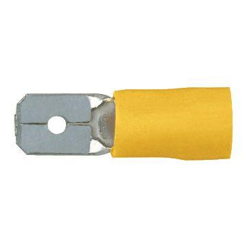 Klauke aderdoorverbinder rond/vlak stekker 8, messing