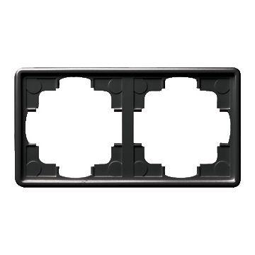 Gira S-Color 2-voudig kunststof afdekraam, zwart