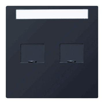 Gira S-Color outlet-component kunststof inzetplaat voor draagring modulair jack, zwart
