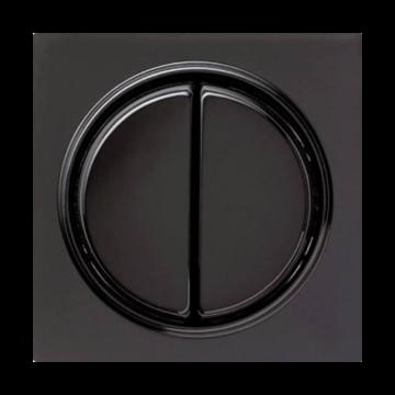 Gira S-Color 2-voudig bedieningswip, zwart