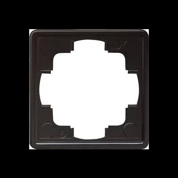 Gira S-Color enkelvoudig kunststof afdekraam, zwart