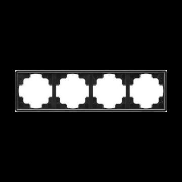 Gira S-Color 4-voudig kunststof afdekraam, zwart