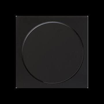 Gira S-Color kunststof blindplaat, zwart