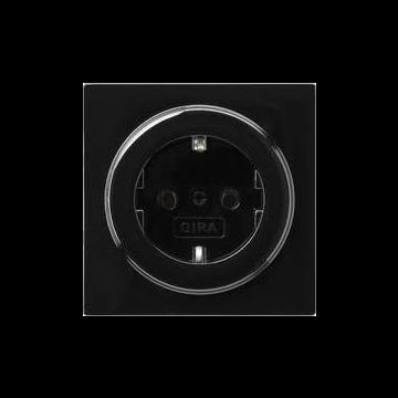 Gira S-Color kunststof wandcontactdoos met randaarde, zwart
