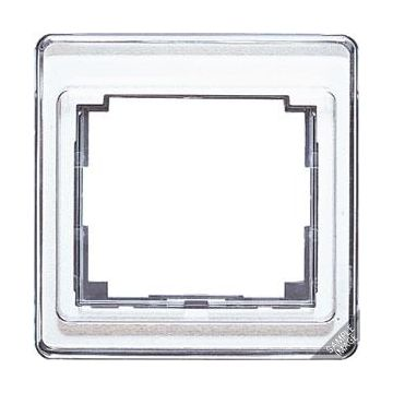 JUNG SL500 afdekraam glas, zilver, (bxhxd) 85x85x9.5mm