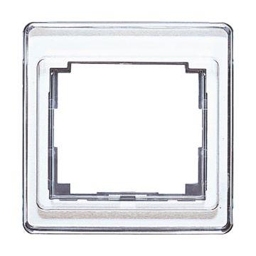 JUNG SL500 afdekraam glas, wit, (bxhxd) 85x85x9.5mm, 1 eenheid