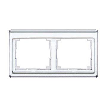 JUNG SL500 afdekraam glas, wit, (bxhxd) 156x85x9.5mm