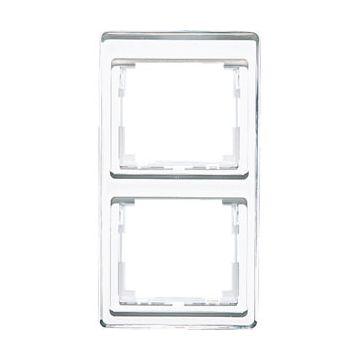 JUNG SL500 afdekraam glas, wit, (bxhxd) 85x156x9.5mm