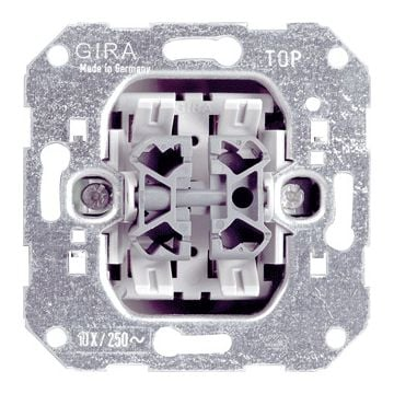 Gira installatieschakelaar Basisunit, metaal, schakelaar wissel-/wiss schakelaar