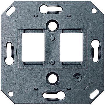 Gira draagring 2x modulair jack opname van aansluitingen AMP, zwart