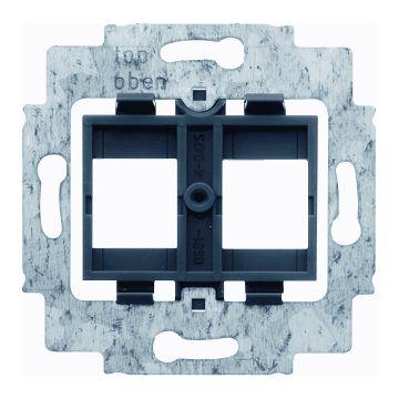 Busch-Jaeger draagring voor 2 Modular Jack connectors met zwarte inzet