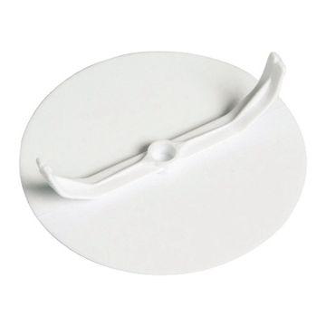 Attema deksel voor doos in wand/plafond, kunststof, wit, diam 95mm, di 2mm