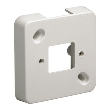 Attema mont pl leid kan enkel ME25, kunststof, zuiver wit, RAL-nummer 9010