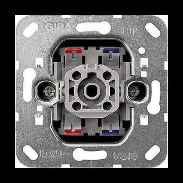 Gira installatieschakelaar Basisunit, metaal, schakelaar 2-polig, wip/drukker