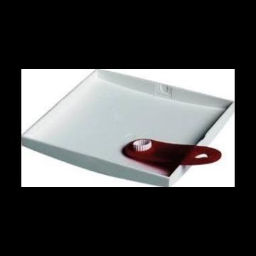 Attema deksel voor doos in wand/plafond, kunststof, wit, (lxbxd) 113x113x5mm