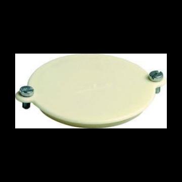 Attema deksel voor doos op wand/plafond, kunststof, wit, diam 62mm